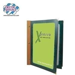 Folienkarte grün, mit Holzr., A4, 6-seitig, 1 Stk.