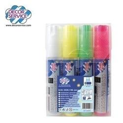 Kreidemarker 4 Farben gemischt, Schreibbreite 3-15