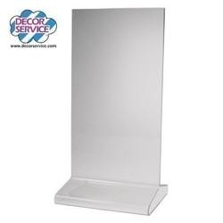 """Tischaufsteller """"T-Ständer"""" aus Acrylglas, 10x21cm, 1 Stk"""