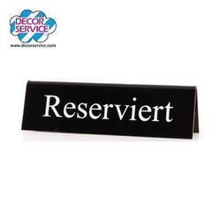 """Tischaufsteller """"Reserviert"""" für die Gastronomie"""