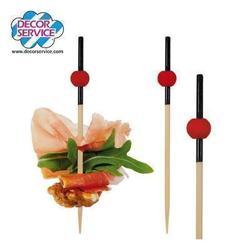 """Fingerfood Spieße """"Looping"""" aus Bambus für die Gastronomie"""