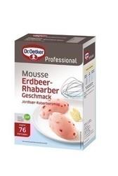 Oetker Mousse Erdbeer-Rhabarber, 1 kg