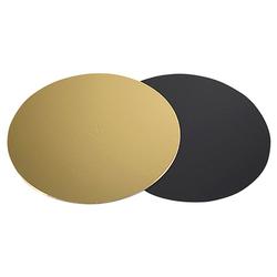 Tortenunterlagen gold/schwarz beschichtet, Ø 28 cm, 67 Stk/Pkg