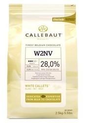 """Kuvertüre-Linsen """"weiß"""" 28% Kakao 2,5 kg"""
