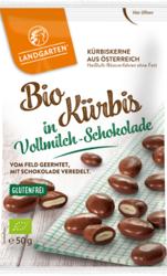 Bio Kürbis in Vollmilch-Schokolade 50g