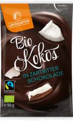 Bio Kokos in Zartbitter-Schokolade 50g