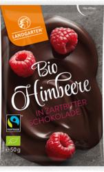 Bio Himbeere in Zartbitter-Schokolade 50g