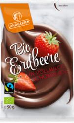 Bio Erdbeere in Vollmilch-Schokolade 50g