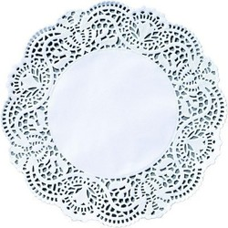 DUNI Tortenspitzen Ø 25 cm, weiß