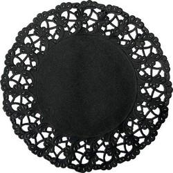 DUNI Tortenspitzen Ø 12 cm, schwarz