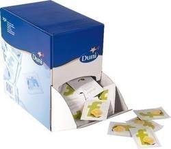 Spenderbox gefüllt mit Erfrischungsütchern Lemon, 70 x 50 mm
