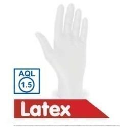 Latex-Handschuhe weiß, ungepudert (Größe L)