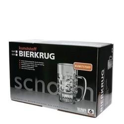Bierkrug 0,4l SAN glasklar 6er-Packung