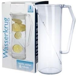 Wasserkrug 1l SAN glasklar + Deckel für Krug