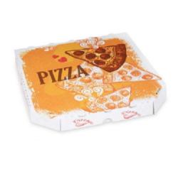 Pizzakarton aus Mikrowellpappe 26 x 26 x 3 cm