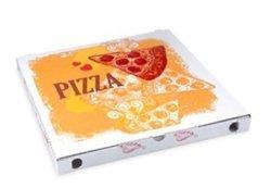 Pizzakarton aus Mikrowellpappe 34 x 34 x 3 cm