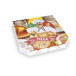 Pizzakarton aus Mikrowellpappe 30 x 30 x 3 cm