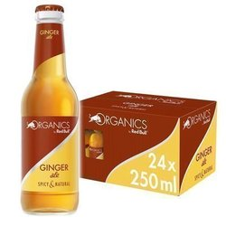ORGANICS BY RED BULL -  GINGER ALE - Glass Bottle