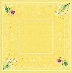 DUNI Dunisilk Mitteldecken 84 x 84 cm, Spring Lilies