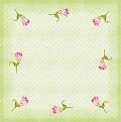 DUNI Dunicel Mitteldecken 84 x 84 cm, Love Tulips