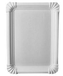 Pappteller 16,5 x 23,5 cm, rechteckig, weiß