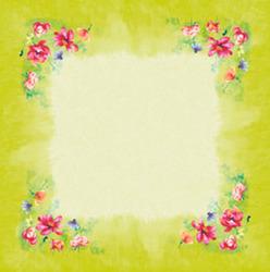 Dunisilk-Mitteldecken 84 x 84 cm, Garden Joy