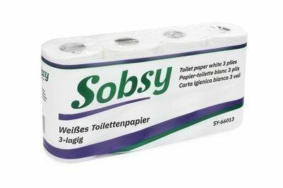 Toilettenpapier 3-lagig, Zellstoff, 150 Blatt