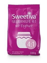 Sweetiva Gelierhilfe 4:1 mit Erythrit 330g – 95% weniger Kal.