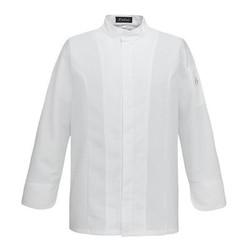 Kochjacke Dino Ton sur Ton White Slimfit Zip M